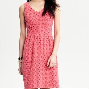 Banana Republic Pink Eyelet Dress